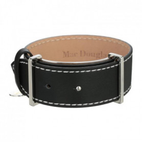 MAC DOUGLAS Bracelet Acier Cuir Noir Mac Douglas