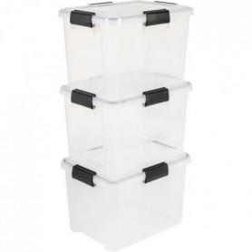 IRIS OHYAMA Lot de 3 boîtes de rangement hermétiques - Air Tight Box