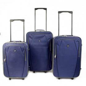 KINSTON  Set de 3 Valises Textiles Copenhague Bleu