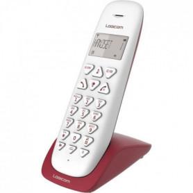 LOGICOM Téléphone sans fil VEGA 150 SOLO Framboise sans répondeur