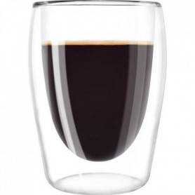 MELITTA Lot de 2 verres en borosilicate pour café long 200 ml
