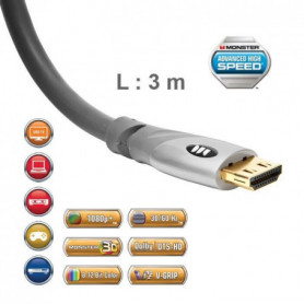 Cble HDMI 2.0 UHD Monster Gold 3 m