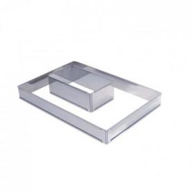 Cercle a entremets ajustable rectangle en inox