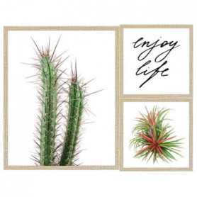 Lot de 2 cadres Enjoy life - 40x50 / 24x24 cm - MDF