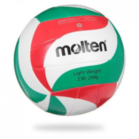 MOLTEN Ballon De Volley-Ball Light - Blanc, Rouge et Vert