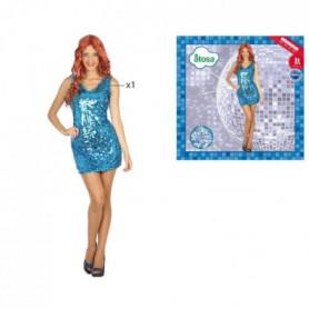 ATOSA Déguisement Disco - Femme - Bleu