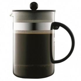 BODUM BISTRO Cafetiere piston 12 tasses/1,5L noir