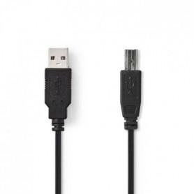NEDIS USB 2.0 Cable - à Male - B Male - 3.0 m - Noir