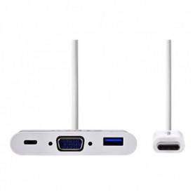 Nedis Adaptateur vidéo externe USB-C 3.1 VGA, USB-C, USB 3.1 blanc