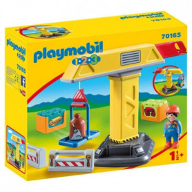 PLAYMOBIL 1 2 3 - 70165 - Grue de chantier