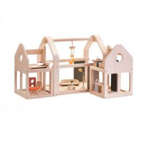PLAN TOYS Maison 3 blocs modulables