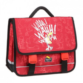 TITEUF Cartable - 2 Compartiments - 38 cm - Rouge