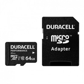 DURACELL Carte Micro SD 64GB Class 10U1+Adaptateur
