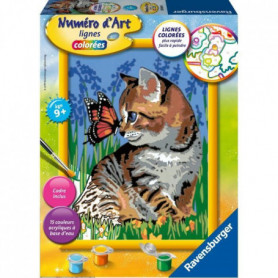 RAVENSBURGER - Numéro d'art Chat et son compagnon le papillon