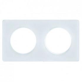 SCHNEIDER ELECTRIC Plaque de finition 2 postes Odace Touch blanc