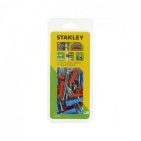 STANLEY Kit de 28 chevilles multi-matériaux ø6 et 8mm avec foret