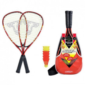TALBOT TORRO Set de Badminton Speed 5000 - 2 raquettes - 6 volants