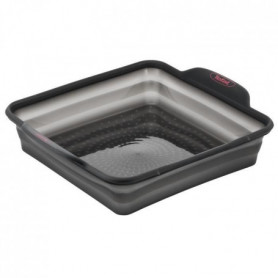 TEFAL Moule a cake carré Crispybake - Silicone rétractable - 23x23 cm