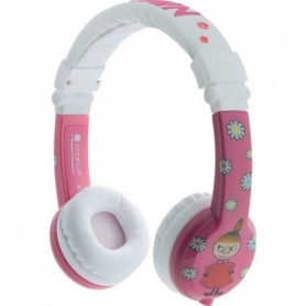 BUDDYPHONE Casque filaire Little my rose - Rose et blanc
