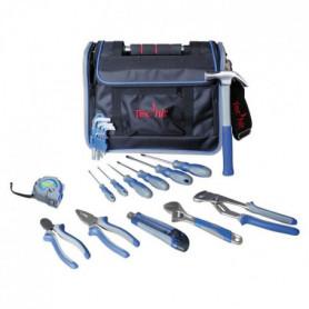 TEC HIT Sac d'outils 23 pieces avec rabat et poignée