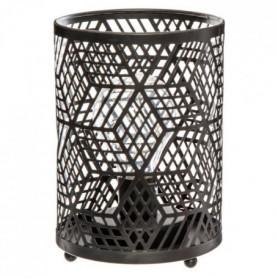 Lampe microled en métal - H 16 cm - Noir