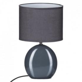 Lampe ovale en céramique - Ø 19,5 x H31 cm - Gris