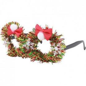 MERRY CHRISTMAS Paire de Lunettes Noël Guirlande Multicolore