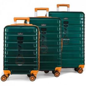 DANIEL HECHTER Set de 3 Valises Trolley Rigide Vert