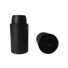 Douille E14 thermoplastique lisse noir