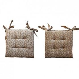 O'CBO Lot de 2 Galettes de chaises Mille Fleurs - 40 x 40 cm