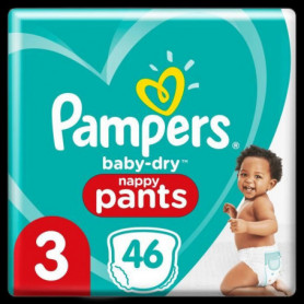 Pampers Baby-Dry Pants Couches-Culottes Taille 3, 46 Culottes