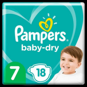 Pampers Baby-Dry Taille 7, 18 Couches