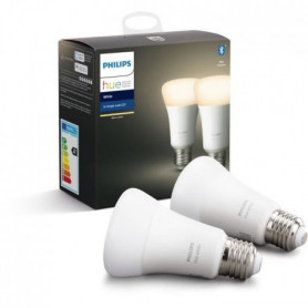 PHILIPS HUE Pack de 2 ampoules White - 9,5 W - E27 - Bluetooth 136713