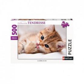 RAVENSBURGER - Puzzle 500 pieces La toilette du chat