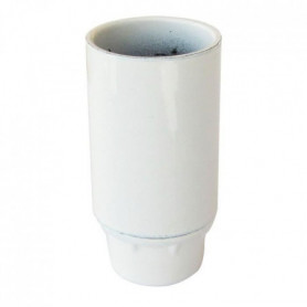 TIBELEC Douille E14 - Blanc lisse