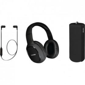 TOSHIBA - Pack Audio Sans fil 3 en 1 - HSP-3P19K - Noir