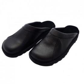 HTC Chaussures Clack routier en cuir - Mixte - Noir 43
