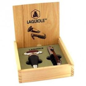 Coffret cadeau Laguiole sommelier + bouchon