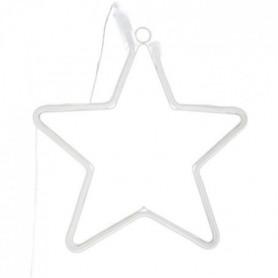 Lampe étoile LED néon - L.28,5 cm - Blanc