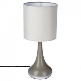 Lampe touch en métal - H 33 cm - Taupe