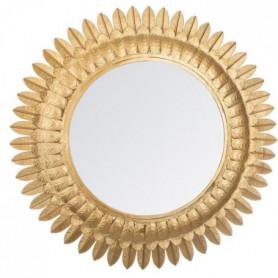 Miroir feuilles en métal - Ø 70 x Ep. 2,5 cm - Or