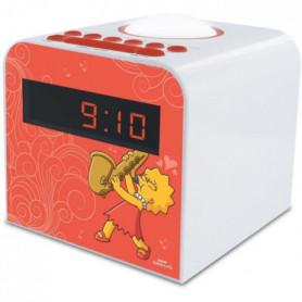 SIMPSON-477444-Radio-réveil Lisa FM veilleuse double alarme