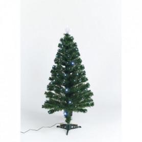 Sapin vert de Noël Caméléon - H 120 cm - Fibre optique bicolore