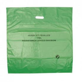 COGEX Lot de 3 sacs à déchets végétaux en polyéthylene 110L
