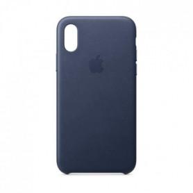 Coque en cuir pour iPhoneXS - Bleu nuit