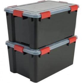 IRIS OHYAMA Lot de 2 boîtes de rangement hermétique