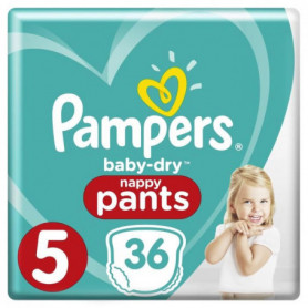 Pampers Baby-Dry Pants Taille 5 11-18 kg - 36 Couches