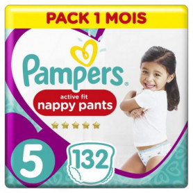 Pampers Active Fit Pants Taille 5, 132 Couches