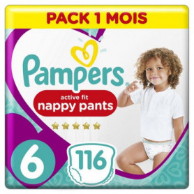Pampers Active Fit Pants Taille 6, 116 Couches