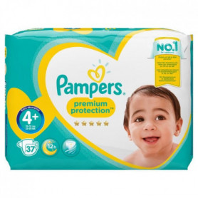 PAMPERS Premium Protection Taille 4+ - 9 a 18 kg
